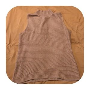 Dana Bachman Beige Sweater Tank Top